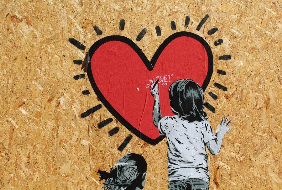 Murals, Coeur, Amour, Espérence, Enfant, Bonne-Année, 2017,