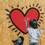 Murals, Enfant, Love, Cœur, Dessin, Bonne, Année, 2017, Merci,